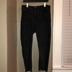COPY - Urban Outfitters cropped black skinny jeans